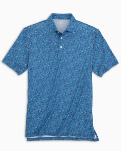 Southern Tide Driver Banana Leaf Print Performance Polo Shirt