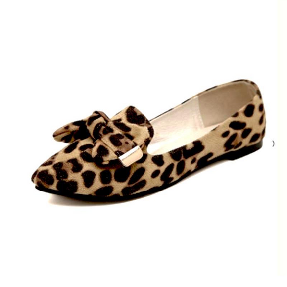 VIVAO Stylish Ladies Leopard Printed Flat Shoes - 1 Pair 3D Magnetic False Eyelashes