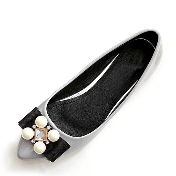 VIVAO Stylish Ladies Soft Leather Flats Butterfly-Knots Slip-On Shoes - 1 Pair 3D Magnetic False Eyelashes