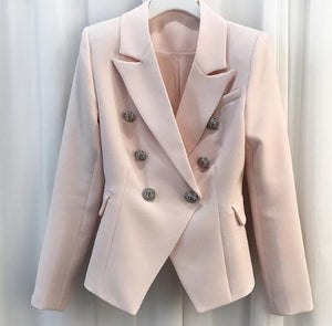 VIVAO - Stylish Casual Blazer with Flap Pockets - Pink - 1 Pair 3D Magnetic False Eyelashes