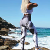 Leopard Skin Workout Leggings - 1 Pair 3D Magnetic False Eyelashes