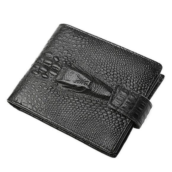 VIVAO - Men's Genuine Leather Wallet - 1 Pair 3D Magnetic False Eyelashes