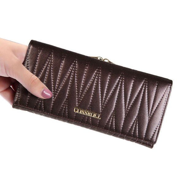 VIVAO Classy Ladies Genuine Leather Wallet - 1 Pair 3D Magnetic False Eyelashes