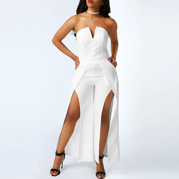 VIVAO Elegant White Jumpsuits - 1 Pair 3D Magnetic False Eyelashes