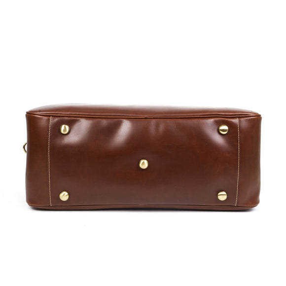 VIVAO - Classy Brown Leather Travel Bag - 1 Pair 3D Magnetic False Eyelashes