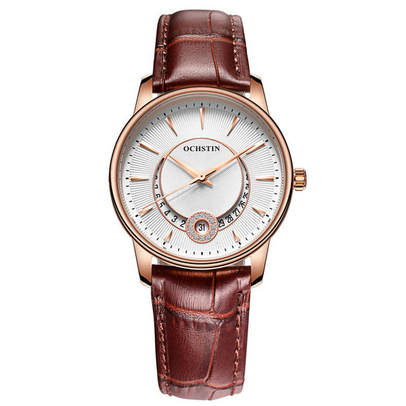 VIVAO - Women's Sophisticated & Fashionable Leather Wristwatch - 1 Pair 3D Magnetic False Eyelashes