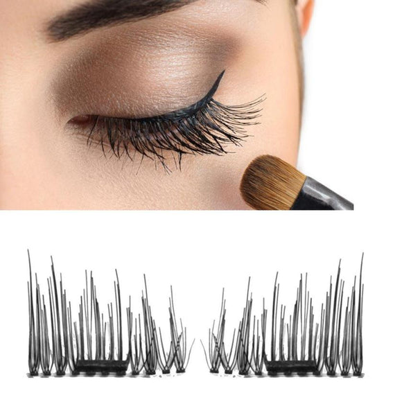 VIVAO - Sexy Ladies 3D Magnetic False Eyelashes - 1 Pair 3D Magnetic False Eyelashes