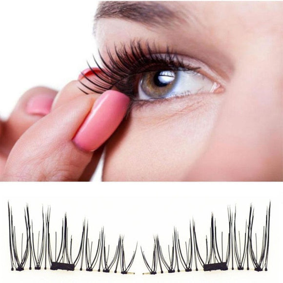 VIVAO - Popular 4 Pcs of Classic 3D Magnetic False Eyelashes - 1 Pair 3D Magnetic False Eyelashes