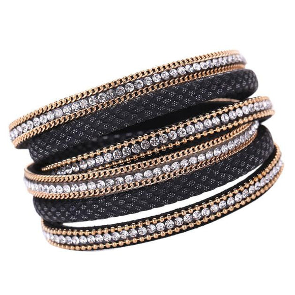 VIVAO - Sexy Women's Bohemian Bracelet Woven Braided Handmade Wrap Cuff Magnetic Clasp - 1 Pair 3D Magnetic False Eyelashes