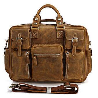 VIVAO - Genuine Leather Briefcase - 1 Pair 3D Magnetic False Eyelashes