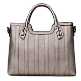 VIVAO Classy Ladies Genuine Leather Handbag Shoulder Bag With Multiple Internal Compartment - 1 Pair 3D Magnetic False Eyelashes
