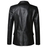 VIVAO - Genuine Leather Sophisticated Jacket - Black - 1 Pair 3D Magnetic False Eyelashes