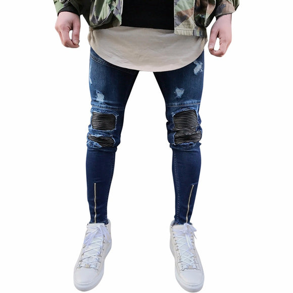 VIVAO Hiphop Streetwear Pants Motorcycle Vintage Denim Jeans - 1 Pair 3D Magnetic False Eyelashes