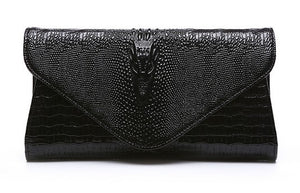 VIVAO Genuine Alligator Clutch Leather Purse - 1 Pair 3D Magnetic False Eyelashes