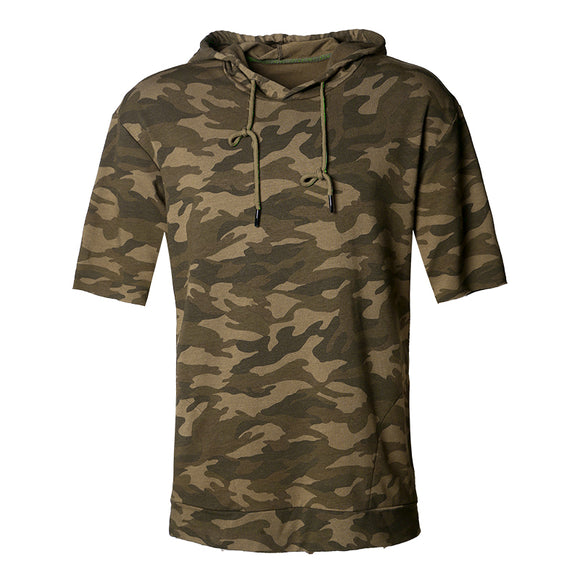 VIVAO - Loose Short Sleeve Hoodies Square Collar Camouflage Shirt - 1 Pair 3D Magnetic False Eyelashes
