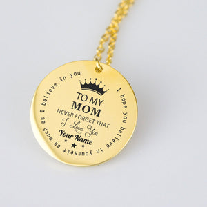 To my mom - Personalized Pendant - pendant - PurpliKi
