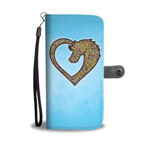 Mandala Horse Love - Wallet Phone Case - Wallet Case - PurpliKi