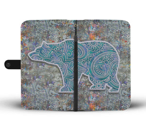 Bear Mandala - Wallet Phone Case - Wallet Case - PurpliKi