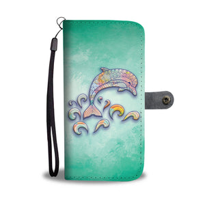 Colorfull Dolphin Mandala - Wallet Case - PurpliKi