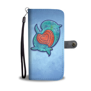 Dolphin Love Mandala - Wallet Phone Case - Wallet Case - PurpliKi