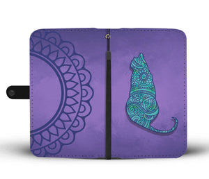 Cat Mandala - Wallet Phone Case - Wallet Case - PurpliKi