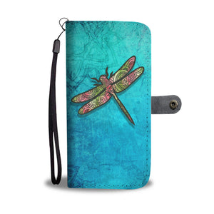 Dragonfly Mandala - Wallet Phone Case - Wallet Case - PurpliKi