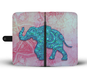 Elephant Mandala - Wallet Phone Case - Wallet Case - PurpliKi
