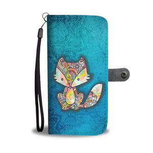 Cute Fox Mandala - Wallet Phone Case - Wallet Case - PurpliKi