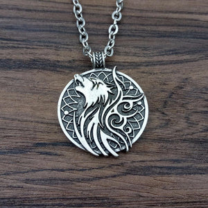 Wolf and Crow Spirit Animal Pendant - Pendant - PurpliKi