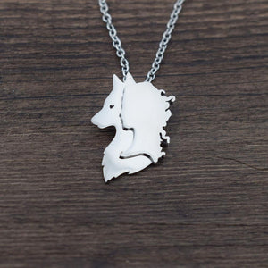 Spirit Of The Wolf Necklace - Pendant Necklaces - PurpliKi