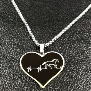Horse Heartbeat - Pendant Necklaces - PurpliKi