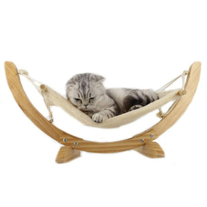 Cat Hammock - Wooden Cat Hanging Bed - Cat Beds & Mats - PurpliKi