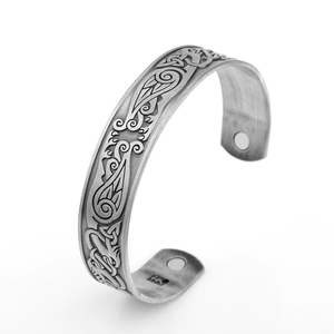 Viking Eagle Magnetic Therapy Bangle - Bangles - PurpliKi