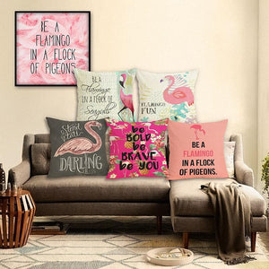 Flamingos Series - Cushion Cover - Cushion Cover - PurpliKi