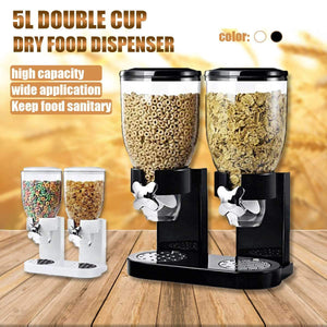 5L Double Cup Cereal Dispenser - Storage Bottles & Jars - PurpliKi