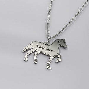 Personalized Horse Necklace - Sterling Silver - pendant - PurpliKi