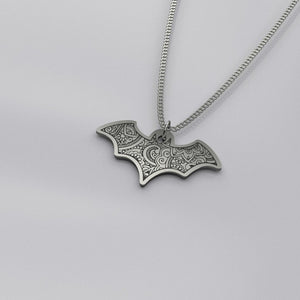 Bat Mandala - Silver Necklace - pendant - PurpliKi