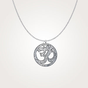 Mandala Om - Silver Necklace - pendant - PurpliKi