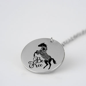 Be Free - Horse Mandala Necklace - pendant - PurpliKi