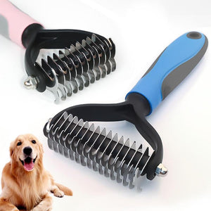 Dual Sided Pet Groomer - Dog Combs - PurpliKi