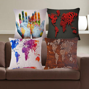 Abstract Map Series - Cushion Cover - Cushion - PurpliKi