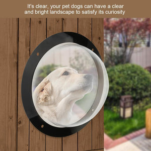 Clear Acrylic Dome Fence Dog Window – Pet Peek Bubble - Dog Doors & Ramps - PurpliKi