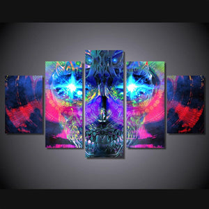 Psychedelic Skull Wall Art - Painting & Calligraphy - PurpliKi