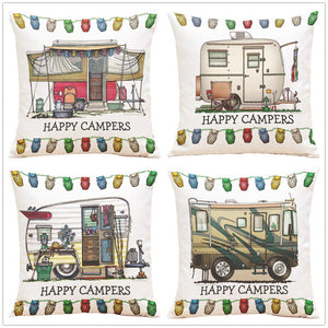 Happy Campers Series - Cushion Cover - Cushion - PurpliKi