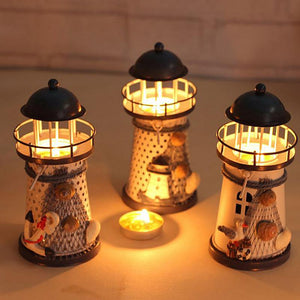 Mediterranean Lighthouse Candle Holder - Candle Holders - PurpliKi