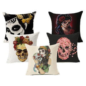 Sugar Skull Series - Cushion Cover - Cushion - PurpliKi