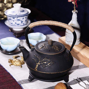 Japanese Cast Iron Teapot Kettle - Teapots - PurpliKi