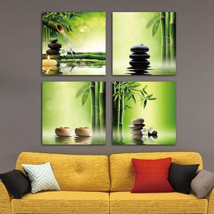 Bamboo Zen Canvas Art - Canvas - PurpliKi