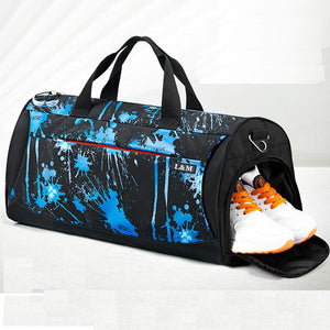 Gym Bag With Shoe Compartment - Gym Bags - PurpliKi