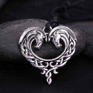 Horse Heart Necklace - Pendant Necklaces - PurpliKi
